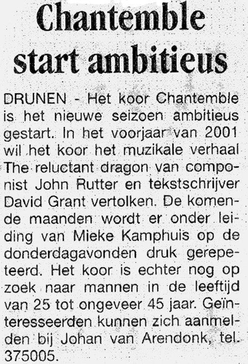 20000831 Chantemble start ambitieus